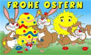Fahne Frohe Ostern 11 90 x 150 cm