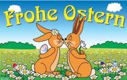 Fahne Frohe Ostern 5 90 x 150 cm