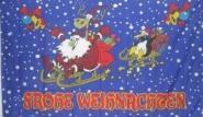 Fahne Frohe Weihnachten 4 90 x 150 cm