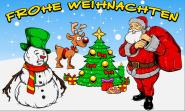Fahne Frohe Weihnachten mit Rentier 90 x 150 cm