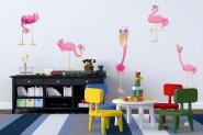 Wandtattoo Funny Flamingo Set