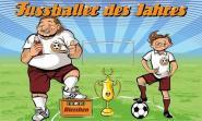 Fahne Fußballer des Jahres 90 x 150 cm