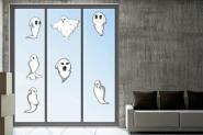 Fenstertattoo Geister-Set 1