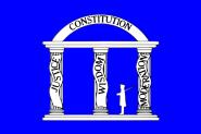 Flagge Georgia 1861 Militärstandarte