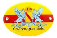 Emailschild Großherzogtum Baden 15 x 10 cm