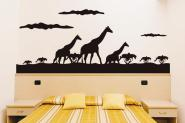 Wandtattoo Giraffenwanderung