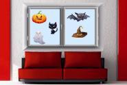 Fenstertattoo Halloween Figuren-Set 2