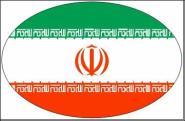 Aufkleber oval Iran 10 x 6,5 cm