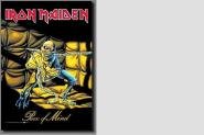 Posterflagge Iron Maiden Piece of Time 105 x 75 cm