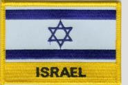 Aufnäher Israel mit Schrift