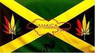 Fahne Jamaika Hanf 90 x 150 cm