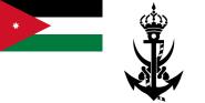 Flagge Jordanien Marine