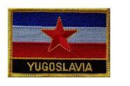 Aufnäher Jugoslawien alt mit Schrift