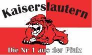 Fahne Kaiserslautern Bulldogge 90 x 150 cm