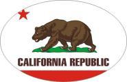 Aufkleber oval Kalifornien 10 x 6,5 cm