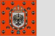 Fahne Preussen Standarte der Königin 1889 - 1918 150 x 150 cm