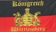 Fahne Königreich Württemberg mit Schrift 150 x 250 cm