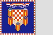 Fahne Kroatien Präsidenten Standarte 150 x 150 cm