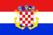 Fahne Kroatien Seekriegsflagge 90 x 150 cm