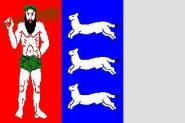 Flagge Lappland 120 x 120 cm