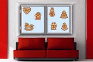 Fenstertattoo Lebkuchen Set 1