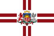 Flagge Lettland Präsident