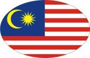 Aufkleber oval Malaysia 10 x 6,5 cm