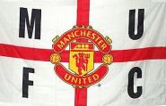Fahne Manchester United Cross 91 x 152 cm