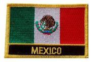 Aufnäher Mexiko mit Schrift