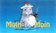 Fahne Moin Moin Seehund III 90 x 150 cm