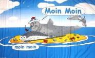 Fahne Moin Robben auf Sandbank 90 x 150 cm