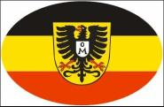 Aufkleber oval Mosbach 10 x 6,5 cm