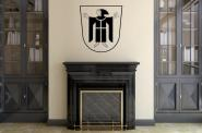 Wandtattoo München Wappen