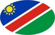 Aufkleber oval Namibia 10 x 6,5 cm
