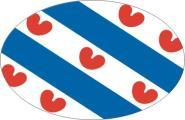 Aufkleber oval Niederländisch Friesland 10 x 6,5 cm