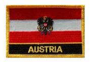 Aufnäher Österreich Adler mit Schrift