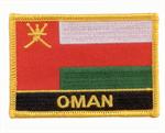 Aufnäher Oman mit Schrift