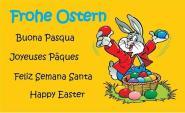 Fahne Frohe Ostern mehrsprachig 90 x 150 cm
