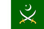 Flagge Pakistan Armee