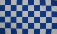 Fahne Karo Blau-Weiss 150 x 250 cm
