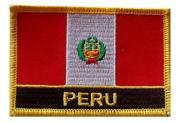 Aufnäher Peru mit Schrift