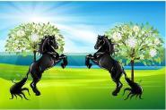 Stockflagge Pferde 30 x 45 cm