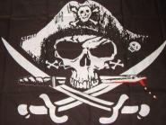 Fahne Pirat mit blutigem Dolch 90 x 150 cm