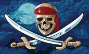 Fahne Pirat Fluch der Meere 90 x 150 cm