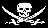Fahne Pirat mit Säbel 90 x 150 cm