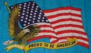Fahne Proud to be American 90 x 150 cm