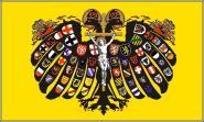 Fahne Quaternionenadler des Heiligen Römischen Reiches Deutscher Nation 90 x 150 cm