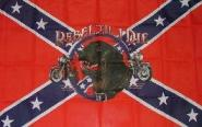 Fahne Südstaaten Rebel till I die 90 x 150 cm