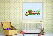 Fenstertattoo Roter Weihnachtszug