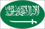 Aufkleber oval Saudi Arabien 10 x 6,5 cm